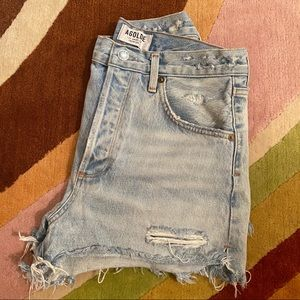 AGOLDE 'Jaden' High Waisted Cutoff Shorts